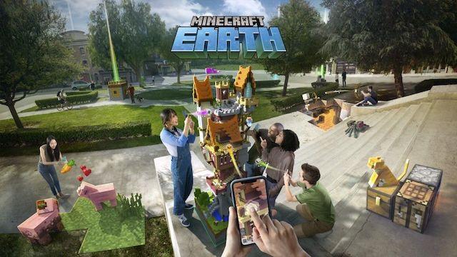 『Minecraft Earth』拡張現実(AR)ゲーム!マイクラの世界を現実世界に構築しよう