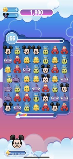 『ディズニー emojiマッチ』(絵文字 マッチ)